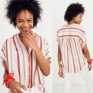 Madewell Central Albee Stripe Button Shirt